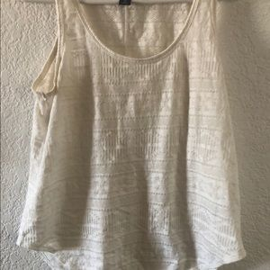 Old Navy Creme Tribal Burnout Print